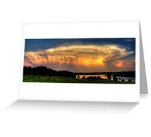 Sunset Cloud Greeting Card