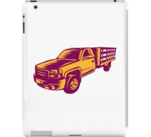 Pick-up Truck Woodcut iPad Case/Skin