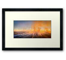 Northern Territory Bush Fire. Framed Print