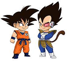 Son Goku Son Vegeta Photographic Print