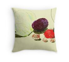 passionfruit and tomatoes Throw Pillow