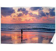 Sunset at Nai Yang Beach, Phuket, Thailand Poster