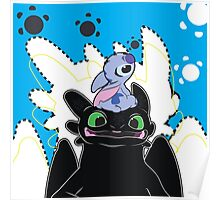 Stitch and Toothless Poster