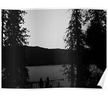 Lake Wenatchee Sunset B&W Poster