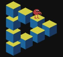 Q*bert - pixel art Kids Clothes