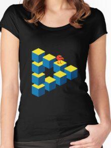 Q*bert - pixel art Women's Fitted Scoop T-Shirt
