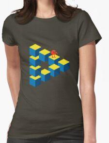 Q*bert - pixel art Womens Fitted T-Shirt