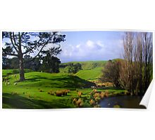 New Zealand Countryside Poster