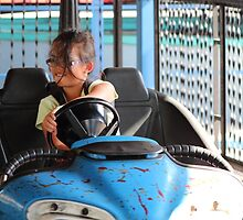 Look, my little girl can drive! by Laurie Puglia