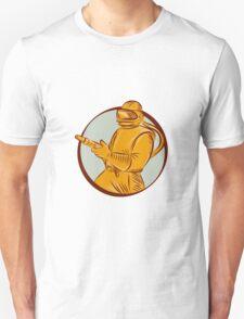 Sandblaster Sandblasting Hose Circle Etching T-Shirt