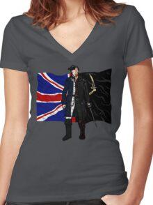 Lietenant McGraw and Captain Flint - Black Sails Women's Fitted V-Neck T-Shirt