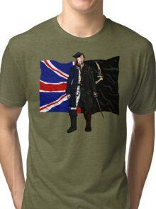 Lietenant McGraw and Captain Flint - Black Sails Tri-blend T-Shirt