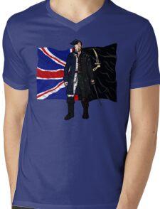 Lietenant McGraw and Captain Flint - Black Sails Mens V-Neck T-Shirt