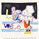 Night Drawings - Les Dessins de Nuit n°17- When Black isn't black... by Pascale Baud