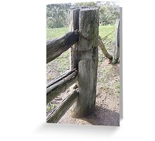Old slip rail gate Greeting Card