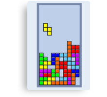 Old School Tetris Canvas Print