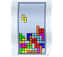Old School Tetris Poster