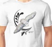 Flying Snowy Owl Unisex T-Shirt