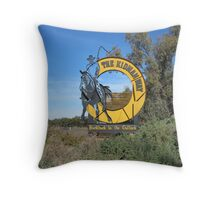 A Monument to the Great Cattle King, Sir Sydney Kidman. N.S.W. Throw Pillow