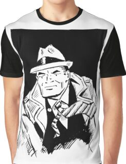 Dick tracy in B/W Graphic T-Shirt