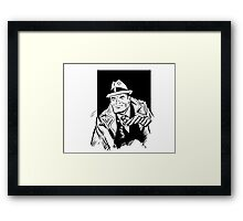 Dick tracy in B/W Framed Print