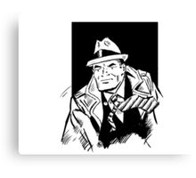Dick tracy in B/W Canvas Print