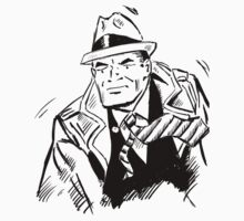 Dick tracy in B/W One Piece - Short Sleeve