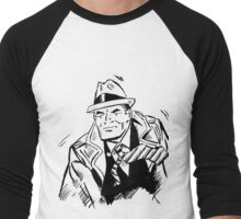 Dick tracy in B/W Men's Baseball ¾ T-Shirt