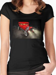 Rick Conway's 1928 Ford Hotrod Women's Fitted Scoop T-Shirt