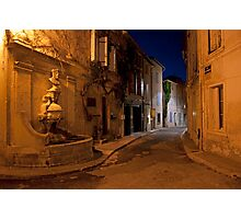 Dusk on a St Remy street Photographic Print
