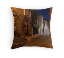 Dusk on a St Remy street Throw Pillow