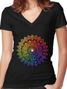 Mandala 46 T-Shirts, Hoodies and Stickers and cases - Jim Gogarty Women's Fitted V-Neck T-Shirt