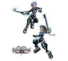 Kingdom Hearts: Dream Drop Distance The Grid version Sora & Riku Photographic Print