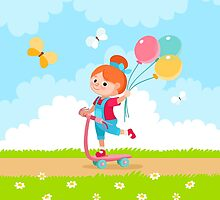 Girl with Balloons by Design4You