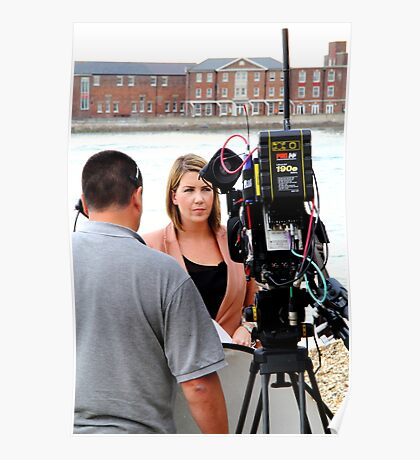 BBC news reporter on location Poster