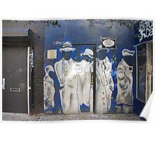 Door in East Village, NYC Poster