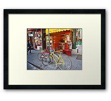 Greenwich Village bikes  Framed Print