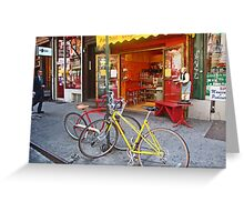 Greenwich Village bikes  Greeting Card