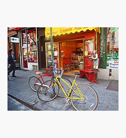 Greenwich Village bikes  Photographic Print
