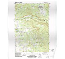 USGS Topo Map Washington State WA Yacolt 244805 1990 24000 Poster