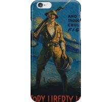 And they thought we couldnt fight Victory Liberty Loan iPhone Case/Skin