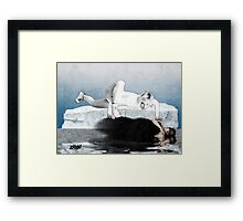 Ice Queen vs Black Widow Framed Print