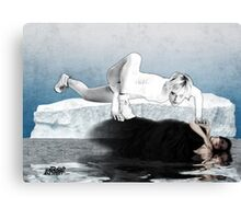 Ice Queen vs Black Widow Canvas Print