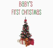 Baby's First Christmas-t-shirt Kids Tee