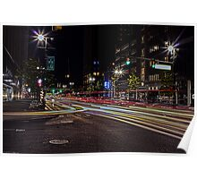 Time Exposure Traffic on Woodward Poster