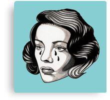 Sad Lady Head Canvas Print