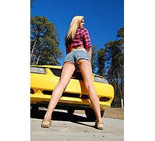 Legs and a Mustang too! Photographic Print