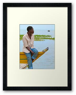 Boy on a boat by Linda Sparks