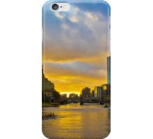 Sunset over the Yarra River iPhone Case/Skin