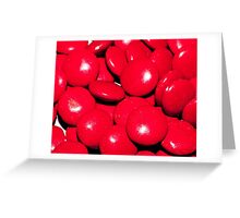 Red Smarties Greeting Card